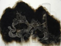 Smoke Drawings by Yuk King Tan Smoke Drawing, Cool Art, Contemporary Art, Art Gallery, Projects To Try, Asia, Chinese, Fire, Artists