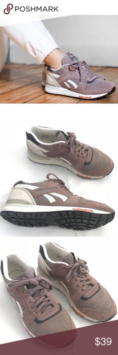 1a8d52c9cf5b Rebook GL 6000 Jersey Shoes Taupe Size 8 - Rebook GL 6000 Jersey Taupe Size  8 - Women's size 8 - Taupe, white, plum, clay, chalk - Suede, mesh upper -  Minor ...
