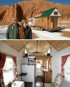 Tiny house on wheels design ideas by Alexis Stephens and Christian Parsons Buy A Tiny House, Building A Tiny House, Tiny House Living, Tiny House Design, Tiny House On Wheels, Cool House Designs, Timbercraft Tiny Homes, Home Bar Sets, Steel Cladding