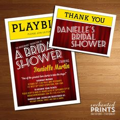 Broadway Collection - Printable Bridal Shower Invitation on Etsy, $20.59 AUD