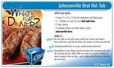 Johnsonville Brat Hot Tub