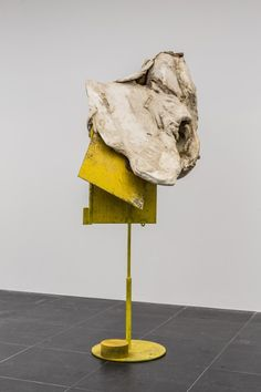 "Peter Buggenhout ""Mount Ventoux #4"", 2009 Installation view Frankfurter Kunstverein 2014  Cow stomach, iron 95 x 117 x 174 cm Photo: Norbert Miguletz © Frankfurter Kunstverein Courtesy the artist"