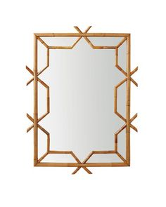 Look at this Serena & Lily Lanai Mirror on today! Unique Bathroom Mirrors, Decorative Mirrors, Bathroom Ideas, Modern Mirrors, Bathroom Lighting, Mid Century Modern Mirror, Le Living, Living Room, Bamboo Mirror