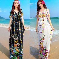 Women Bohemian Chic Clothing Hippie Boho Gipsy Dresses Vestido Cigana Bohemios Largos Etnico Vestidos Longos de Verao