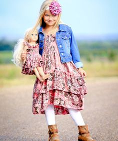 Love this Rosewood Paisley Angel Dress & Doll Dress - Girls on #zulily! #zulilyfinds