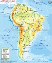 En Este Mapa Aprenderás A Situar Los Principales Accidentes Geográficos De América Del Sur Mapa De America Mapa De America Del Sur Mapa Fisico