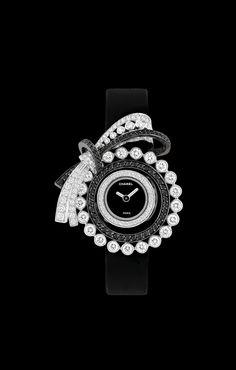 Watch in 18k white gold, diamonds and black diamonds - J60412 - Watchmaking - CHANEL