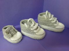 New How to increase sizes with My easy crochet converse style slippers p...