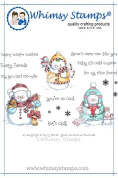*NEW Snowman and Friends