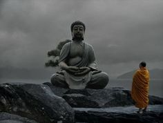 The icon of the Buddha is to remind us to be present in mindfulness