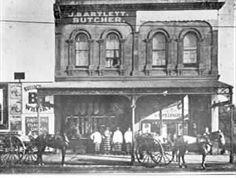 [Bartlett's butchery in Chapel Street] Melbourne Suburbs, Historic Houses, Shop Fronts, Old Buildings, Windsor, Old Photos, Vintage Shops, Past, Shots