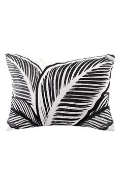 Free shipping and returns on Echo 'Kalea' Pillow at Nordstrom.com. Bold black leaf embroidery creates a dramatic look on an eye-catching accent pillow crafted in snowy cotton.