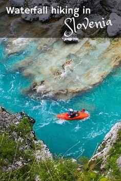 Hiking to a waterfall in Slovenia  #slovenia #soca #travel