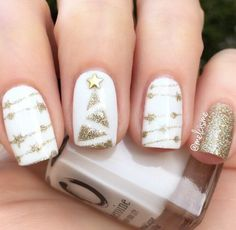 Cool star glitter nails, try to design your nail art with it, see more details shared in bornprettystore.com