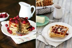 How to Freeze and Reheat Pancakes and Waffles for easier weekday breakfast on www.goodlifeeats.com @goodlifeeats