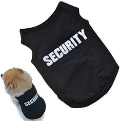 On sale Small Dog Shirt, Voberry® Fashion Pet Puppy Clothes Summer Quote Security Cotton Costumes Pet Dog Cat Funny Shirt T Shirt Black (S) for  Halloween Gifts Idea Promotion for  #Halloween Gifts Idea Deals