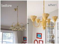 See a new light in your home with these #DIY light fixture transformations