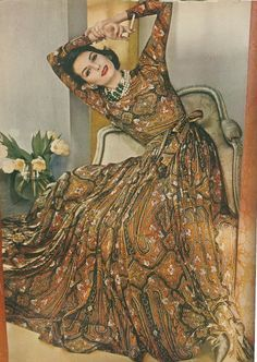 Anne St. Marie modeling; Vogue, April 1960. Want this dress!