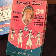 Vintage Girl Scout paper dolls