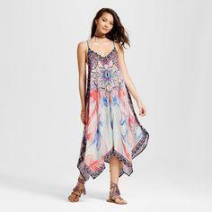 Women's Printed Handkerchief Dress - Flying Tomato (Juniors') S, Beige