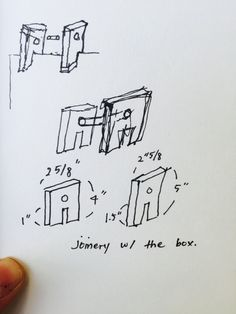 Joinery sketches #sominshim #emilymellilo #48105