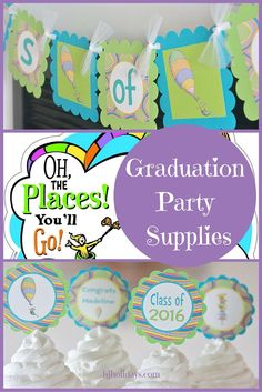 Oh the Places You'll Go Graduation Party Supplies