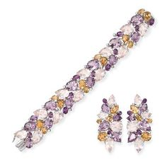 An Amethyst, Kunzite and Citrine Set, by Michele della Valle