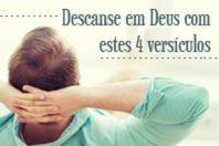 Descanse em Deus com estes 4 versículos