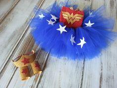 Wonder Woman Tutu Halloween Costume Baby Costume by Kutiebowtuties, $59.95