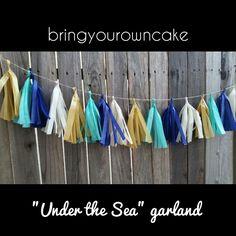 """Under the Sea"" tassel garland by BRINGYOUROWNCAKE on Etsy"