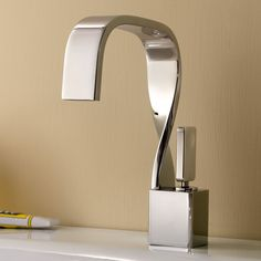 5 Stylish, Modern Bathroom Faucets - Nowadays, a bathroom faucet is not just to run the water. These stylish, modern bathroom faucets also complement the bathroom interior. Check them out for examples. Modern Bathroom Faucets, Bathroom Wall Decor, Bathroom Fixtures, Vanity Faucets, Bathroom Vanities, Bathroom Ideas, Bathroom Hardware, Plumbing Fixtures, Bathroom Interior