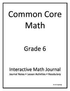 Printables 6th Grade Math Review Worksheets common core math cores and on pinterest 6th grade interactive journal