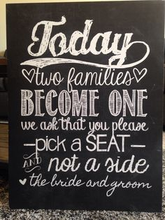 #diy wedding ceremony sign