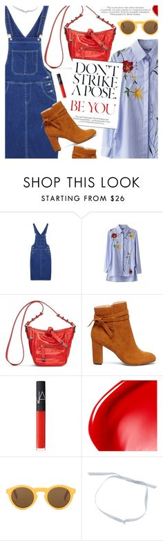 """""""Stripes are in"""" by metisu-fashion ❤ liked on Polyvore featuring Vera Bradley, Sole Society, NARS Cosmetics, CÉLINE, polyvoreeditorial and metisu"""