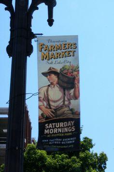 Salt Lake City Farmer's Market Sign- Photo by Amy Laurel Hegy @twotramps