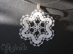 White Flower Lace Necklace by on Etsy, Lace Necklace, Lace Jewelry, Bobbin Lace Patterns, Flower Patterns, Bobbin Lacemaking, Bruges Lace, Types Of Lace, Wire Crochet, Lace Heart
