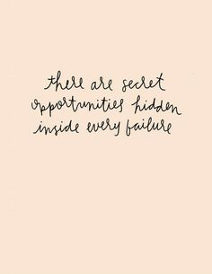 Quote | Inspiration | Opportunity in Failure