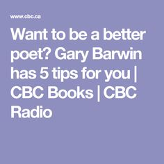 Want to be a better poet? Gary Barwin has 5 tips for you | CBC Books | CBC Radio
