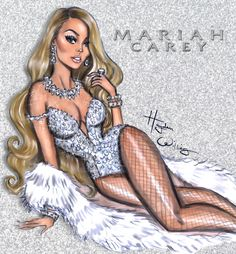 Hayden Williams Fashion Illustrations | Everything is always so glam & festive in Mariah's...