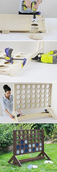 Connect Four ~ Build a giant backyard four in a row game