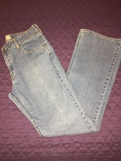 Levi Strauss Signature Jeans Misses Size 14 Long Stretch Boot Cut Blue Denim | eBay