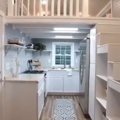 """Tour of the Beautiful """"Kate"""" Tiny House on Wheels! - This custom tiny home on wheels, « Kate Tiny Houses Plans With Loft, House Plan With Loft, Shed To Tiny House, Tiny House Loft, Best Tiny House, Tiny House Living, Tiny House On Wheels Stairs, Tiny House Office, Tiny Homes On Wheels"""