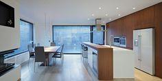 Kitchen, Breakfast Bar, Dining Table, A+A House in Zagreb, Croatia by DVA Arhitekta