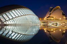 City of Arts and Sciences by Santiago Calatrava ( Valencia- Spain)