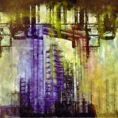 acrylic paintings industrial - Google Search