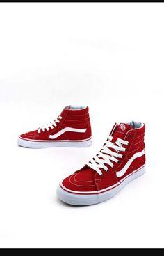 info for d8d7c 6534a Tenis Vans, Vans Sneakers, Red Vans Shoes, Vans Socks, Shoes Heels,