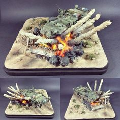 The Stryker ESV with IED 1/35 diorama. Modeler Alberto Palomares Duran #scalemodel #plastimodelismo #hobby #diorama #plastickits #usinadoskits #udk #miniatura #miniature #maqueta #maquette #war #guerra #guerre #bataille #plasticmodel #plamodel #stryker