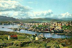 Møre og Romsdal fylke Kristiansund utsikt over byen 1970-tallet