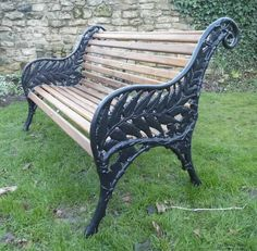 Fern pattern cast iron bench fully refurbished by Thompsons Garden Emporium