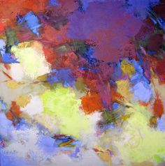 Untitled Abstraction, 24x24 acrylic on canvas by Debora L. STewart